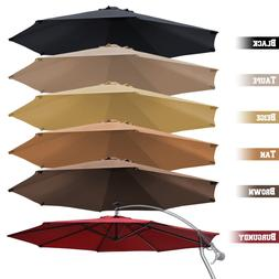 10' Cantilever Patio Offset Umbrella Replacement Canopy Para