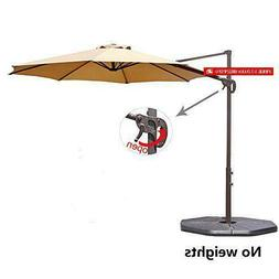 Le Papillon 10 Ft Cantilever Umbrella Outdoor Offset Patio U