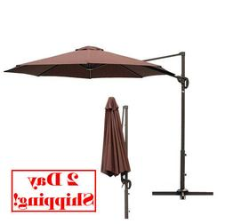 Le Papillon 10 ft Cantilever Umbrella Outdoor Offset Patio E