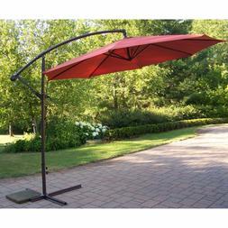 10 Ft. Offset Cantilever Patio Umbrella Metal Pole Home Outd