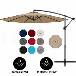 10 FT PATIO UMBRELLA OFFSET HANGING FOLDING SUN SHADE CANTIL