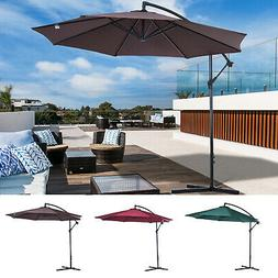 10' Patio Sun Shade Hanging Umbrella Offset Canopy Outdoor M