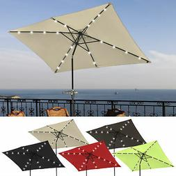 10 x6 5 patio outdoor aluminum umbrella