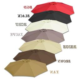 10ft 8-Rib Patio Umbrella Cover Canopy Replacement Top Outdo