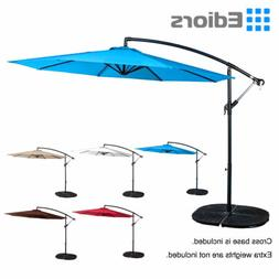 10FT Hanging Roma Offset Outdoor Patio Umbrella Sun Shade Ca
