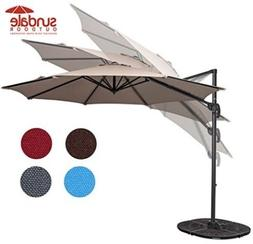 Sundale Outdoor 10ft Hanging Roma Offset Umbrella Outdoor Pa