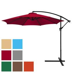 Best Choice Products 10ft Offset Hanging Outdoor Market Pati