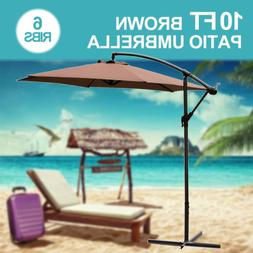 10FT Outdoor Patio Umbrella Canopy Market Shelter Multi-Colo