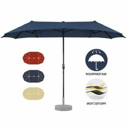 13 FT Double-Sided Patio Umbrella Outdoor Garden Umbrella La