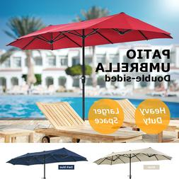 13Ft Outdoor Market Patio Umbrella Double Sided Garden Sun S