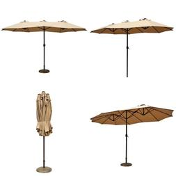 Le Papillon 14 ft Patio Outdoor Umbrella Double-Sided Alumin