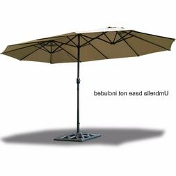 Giantex 15' Market Outdoor Umbrella Double-Sided Twin Patio