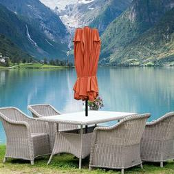 15ft Market Outdoor Umbrella Double-Sided Aluminum Table Pat