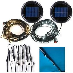 30LED Solar String Light Fit 6-Rib 8ft 9ft Aluminum Outdoor