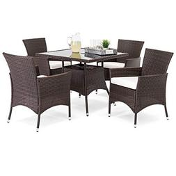 Best Choice Products 5-Piece Indoor Outdoor Wicker Patio Din