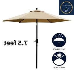 NEW Sunnyglade 7.5 Feet Patio Umbrella Outdoor Table with Pu