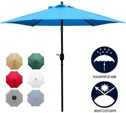 Sunnyglade 7.5' Patio Umbrella Outdoor Table Market Shade wi