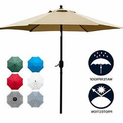 Sunnyglade 7.5' Patio Umbrella Outdoor Table Market Push But