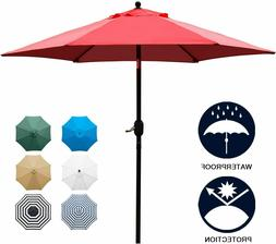 7.5' Patio Umbrella Outdoor Table Market Umbrella Push Butto