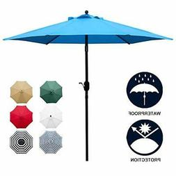 7.5 Patio Umbrella Outdoor Table Market with Push Button Til