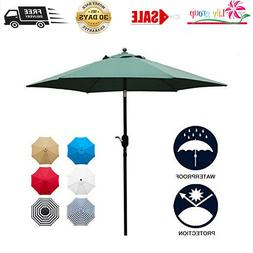Sunnyglade 7.5Ft Patio Umbrella Outdoor Table Umbrella, 6 St