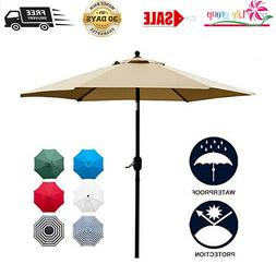 Sunnyglade 7.5Ft Patio Umbrella Outdoor Table Umbrella With