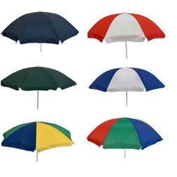 7 Ft Garden Patio Beach Umbrella Available in Solid Color or