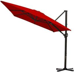 Abba Patio 8 X 10Ft Offset Patio Umbrella Rectangular Cantil