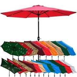 Outdoor Patio Umbrella Aluminum 8ft 9ft 10ft 13ft Common LED