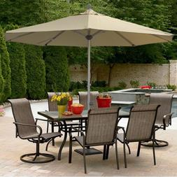 8FT Outdoor Umbrella with Aluminum Pole Patio Garden Sun Sha