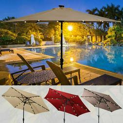 9 Feet Push Button Tilting Outdoor Aluminum Patio Umbrella 8
