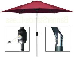 9 ft Patio Umbrella Market  w/ Crank Tilt Aluminum Outdoor -
