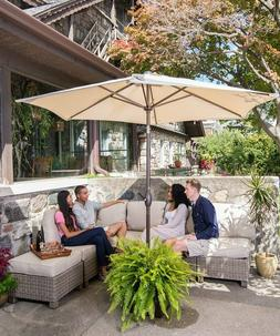 Abba Patio 9' Outdoor Aluminum Table Patio Umbrella with Pus