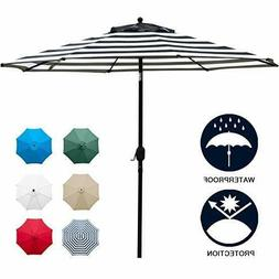 Sunnyglade 9' Patio Umbrella Outdoor Table Umbrella 8 Sturdy