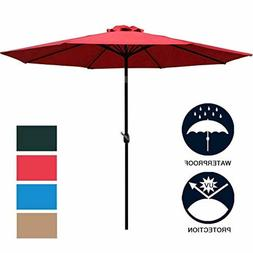 Sunnyglade 9' Patio Umbrella Outdoor Table Umbrella with 8 S