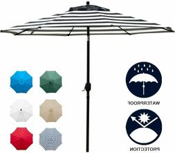 Sunnyglade 9' Solar 24 LED Lighted Patio Umbrella