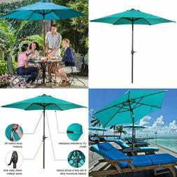9 Sunbrella Fabric Aluminum Patio Umbrella Auto Tilt And Cra