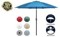 "9"" Sunnyglad Umbrella Fabric Aluminum Patio Auto Tilt And Cr"