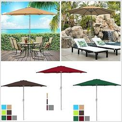 9ft Outdoor Market Patio Beach Garden Umbrella w Crank Tilt