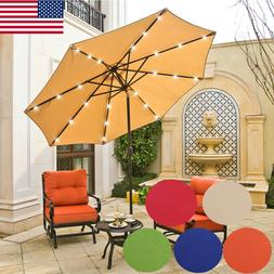 9ft patio outdoor umbrella led beach garden