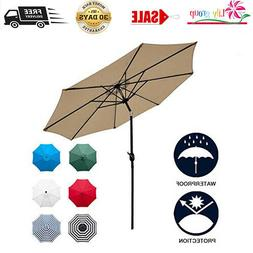 Sunnyglade 9Ft Patio Umbrella Outdoor Table Umbrella With 8