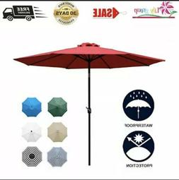 Sunnyglade 9Ft Patio Umbrella Outdoor Table Umbrella With St