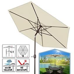 BenefitUSA 8 Ft Aluminium Patio Umbrella with Tilt & Crank S