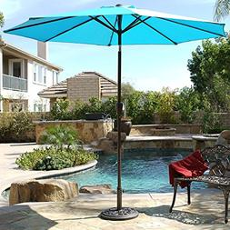 Belleze 9ft Outdoor Patio Umbrella Sun Shade Hand Crank Tilt