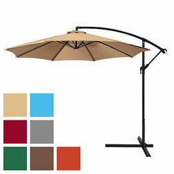 BCP 10ft Offset Hanging Market Patio Umbrella w/ Tilt Adjust
