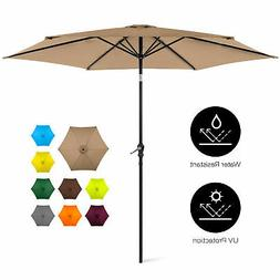 BCP 10ft Outdoor Steel Market Patio Umbrella Decoration w/ T