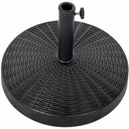 Sundale Outdoor Bliss Wicker Resin Black Patio Umbrella Base