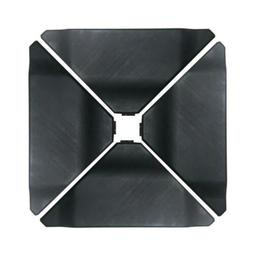 Abba Patio Cantilever Offset Umbrella Base Plate Set, Black,