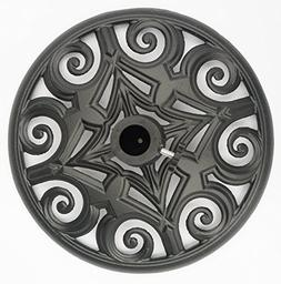 Trademark Innovations Cast Iron Umbrella Base - 17.7 Inch Di
