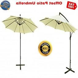 CLEARANCE 10FT Patio Sun Outdoor Offset Hanging Umbrella Cov